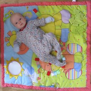 Sam on his mat