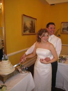 Cutting the tasty cake