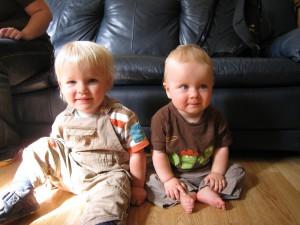 Aedan and Sam looking cute