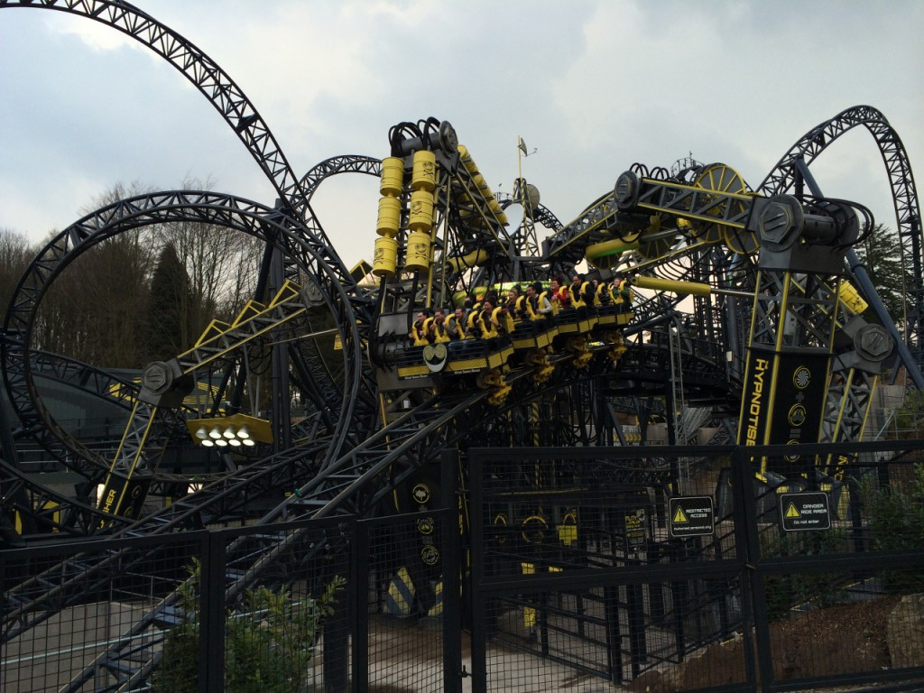 The Smiler - a 14 inversion roller coaster.