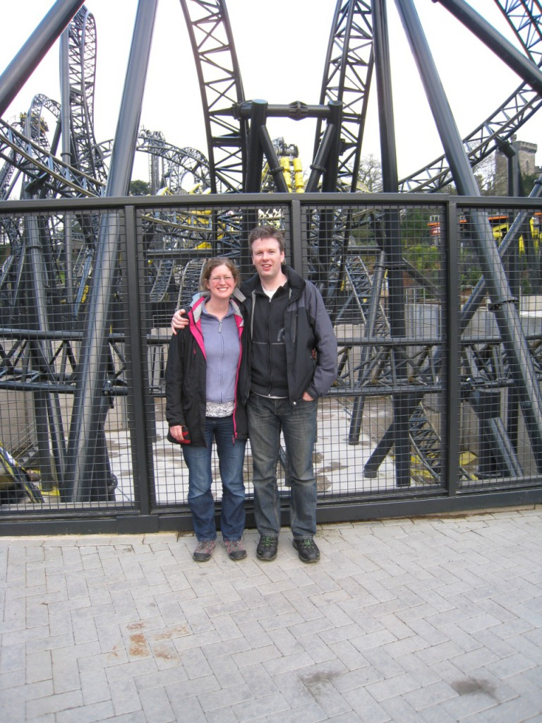 Still smiling after our second ride on The Smiler.
